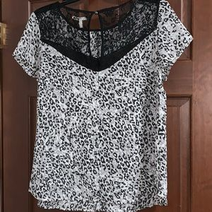 Maurices Tops - 2/$15 NWOT Maurice's Lace Animal Print Blouse